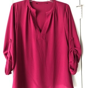 Brixton Ivy hot pink blouse
